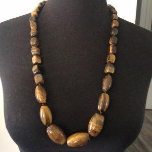 Jewelry - Tigers eye 925 silver necklace